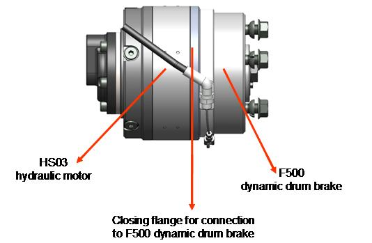 Compact Hydraulic Motor With Brake R D